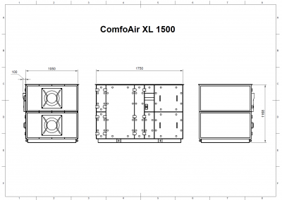 ComfoAir XL 1500 Drawing