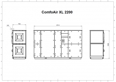 ComfoAir XL 2200 Drawing