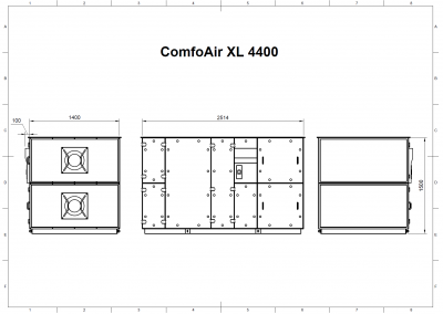 ComfoAir XL 4400 Drawing