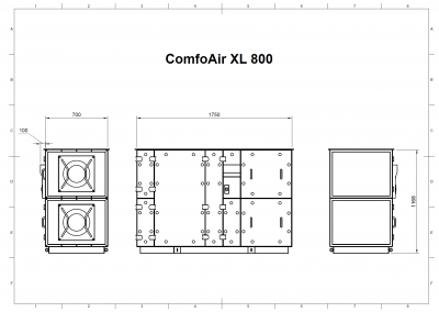 ComfoAir XL 800 Drawing